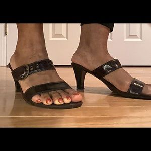 Aeresols Brown Strapped Sandals, Size 9